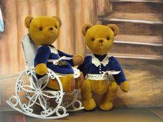 Купить Мини мишки Кай и Герда 13 см - мишки тедди, мини мишки, миниатюра