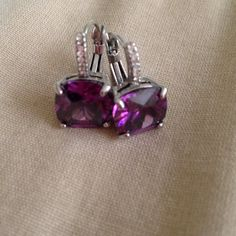 Jewlery ( sterling earning ) Purple sterling earrings) Jewelry Earrings