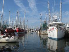 "Oriental Harbor during shrimping season. ... ""The Sailing Capital of North Carolina"""
