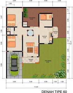 Rumah Minimalis Denah Rumah 3 Kamar Tidur 1 Mushola, Kenapa Tidak? Design Your Dream House, Build Your Dream Home, Minimalist House Design, Minimalist Home, Architect House, Architect Design, Affordable Bedroom Sets, Type 45, A Simple Plan