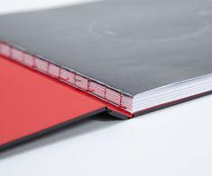 Catalogo ShadeLab con copertina fustellata e rivestita con Burano Grigio Vulcano e Burano Rosso / Design: Ubis Three Luxury Packaging, Fine Paper, Grigio, Colored Paper