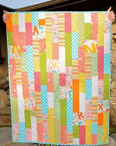 strips and blocks would make a grea baby quilt