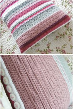 Nice pink & grey cushion by Annie's Place