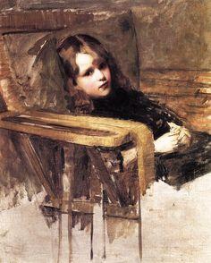 The Easy Chair, John William Waterhouse. English Pre-Raphaelite Painter (1849 - 1917)