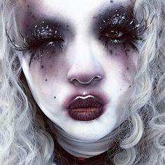 Minsooky Unicorn Baby Photoshoot Makeup In 2019 Edgy Makeup, Gothic Makeup, Dark Makeup, Fantasy Makeup, Cute Makeup, Makeup Art, Beauty Makeup, Makeup Inspiration, Makeup Inspo