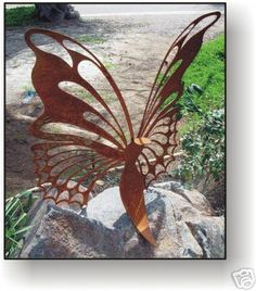 "BUTTERFLY 24"" METAL ART SCULPTURE"