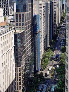 Avenida Rio Branco, Centro da Cidade, Rio de Janeiro, Brasil.