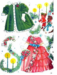 Paper Dolls: A Happy Christmas!