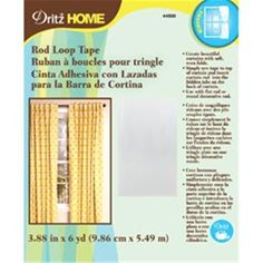 NMC100449 DRITZ-Rod Loop Tape. Use This Tape To Create Beautiful Curtains With Soft And Even Folds. Simply Sew Tape To The Top Of A Curtain And Insert The Rod Into The Hidden Tabs On The Back Of The Curtain. This Package Contains 6 Yards Of 3-7/8 Inch Wide Tape.