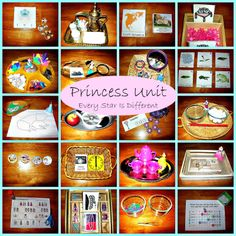 Every Star Is Different: Princess Unit. Like the clock and princess schedule activity for telling time