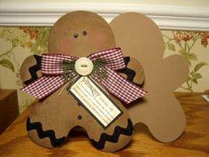 Cutest gingerbread man I've seen so far. Designed by Michelle