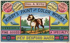 Kirby Paint Advertising Card