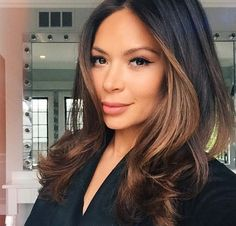 bouncy blowout for ✨ styled by Hair Contouring, Blowout Hair, Beautiful Hair Color, Hair Color And Cut, Hair Affair, Brunette Hair, Bad Hair, Hair Highlights, Balayage Hair