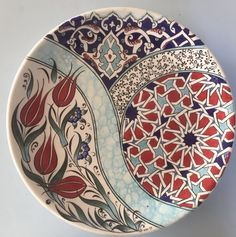 I& curiously waiting for the plates came out of the hernia. My eagerly anticipated plates came out of hernia I # ceramic benyap # çinitabak# Duvartabag of China Painting, Pebble Painting, Pottery Painting, Ceramic Painting, Ceramic Art, Islamic Art Pattern, Pattern Art, Painted Plates, Turkish Art