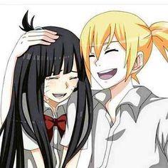 Inojin and Himawari💙 Anime Naruto, Naruto Shippuden Sasuke, Naruto Kakashi, Himawari Boruto, Naruto Gaiden, Shikadai, Naruto Cute, Sarada Uchiha, Naruto Girls