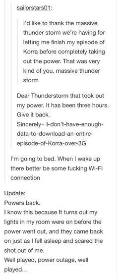Tumblr vs Thunder