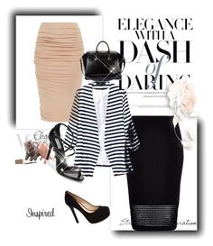 """Stripes and pencil skirts--Fabulous as always!!"" by busybethie on Polyvore"