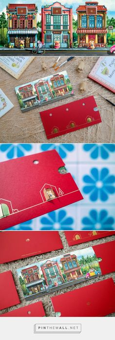 Packaging of the World is a package design inspiration archive showcasing the best, most interesting and creative work worldwide. Chinese New Year Zodiac, Chinese New Year Card, Envelope Design, Red Envelope, New Year Packages, Red Packet, Pig Illustration, Year Of The Pig, Three Little Pigs