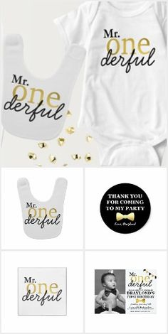 Mr Onederful First Birthday, Black and Gold