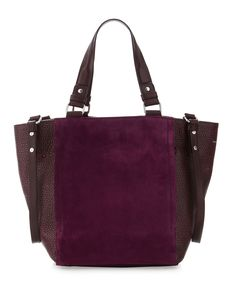 Nanette Lepore Suede Tote in Black (mulberry)