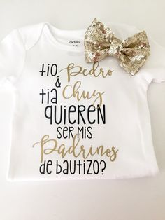 Tio name Tia name quieren ser mis padrinos Will you by KalysShop
