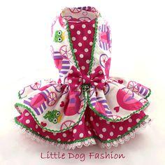 Perro vestido vestido de volantes de vestido por LittleDogFashion                                                                                                                                                                                 Más