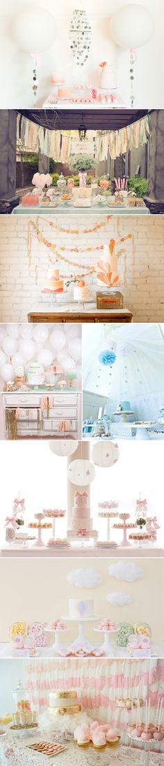 Pink Mint Tassel Garland Kit Party Idea Pastel Dessert Tables Decorations Kids Birthday party decor Baby Shower Wedding