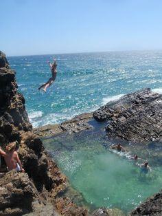 Cliff Jumping, Oahu, Hawaii. #MeetTheMoment