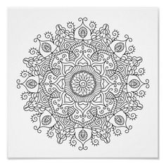 Spend some time relaxing with this coloring page for adults. Once finished, you can hang it on your wall or give it as a gift. Coloring is known to reduce tension and stress, so get started on de-stressing with this piece of art. #zazzlemade #coloring #coloringpage #coloringforadults #meditation #poster Canvas Art Prints, Canvas Wall Art, Crayon Painting, Get Well Gifts, Flower Mandala, Artist Gallery, Mandala Pattern, Coloring Book Pages, Custom Posters