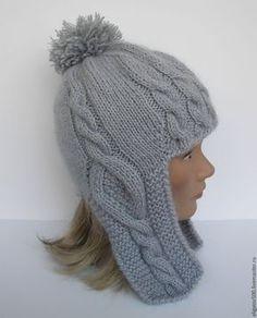 Купить Шапочка с ушками. Шапка вязаная женская. - шапка вязаная, шапка женская, вязание на заказ
