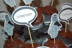 babyshower cupcake toppers