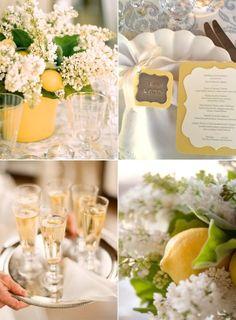 lemons & white flowers...