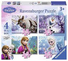 Ravensburger 07360 Colourful or 24 Pieces Disney Frozen 4 in Box Puzzle Disney Frozen Toys, Jigsaw Puzzles For Kids, The Gruffalo, Frozen Costume, Ravensburger Puzzle, Star Wars Shop, Game Prices, Frozen Party, Funko Pop Vinyl