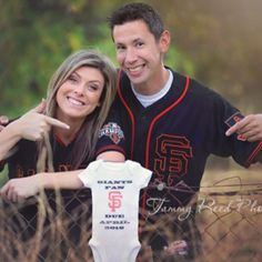 So excited to see our onesie as part of a new birth announcement! Can't wait to see this little fan in it!