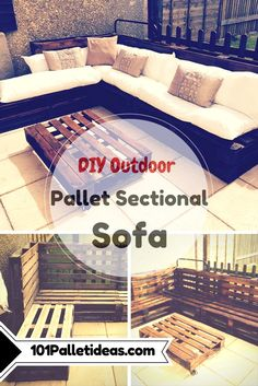 Outdoor #Pallet Sectional #Sofa | 101 Pallet Ideas