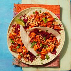 Spicy Salsa, Fresh Salsa, Pickled Red Cabbage, Mexican Tacos, Crispy Onions, Cheesy Sauce, Tortilla Wraps, Coconut Recipes, Cooking Instructions