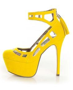 Yellow High Heels Pump