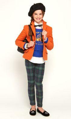 Collegiate Cutie - Girls 7-16 Fashion Show Looks - RalphLauren.com