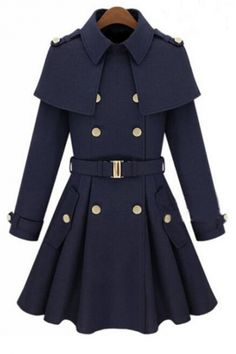 Buy New fashion winter Double Breasted Women's Outerwear Lady's Slim Wool Coat Winter Cloak Cape Coat Winter Jacket at Wish - Shopping Made Fun Wool Trench Coat, Long Wool Coat, Belted Coat, Cape Coat, Trench Dress, Fur Cape, Wool Cape, Tweed Coat, Parka Coat
