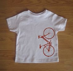 Red Bike, Kid shirt, baby clothes, bicycle, unique