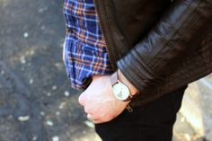 ASOS Leather Jacket and watch