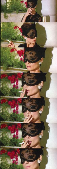 Audrey in the lace mask, one of her best looks (by Givench… | Flickr