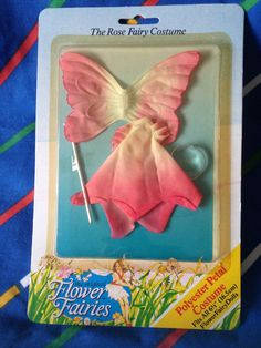 Vintage Hornby Flower Fairies ROSE pink costume by LittleToyLost
