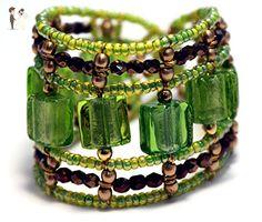 Murano beads Bracelet, Green beaded bracelet - Wedding bracelets (*Amazon Partner-Link)