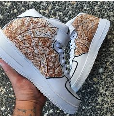 Nickname these custom painted air Force ones done by @gystforkickz #nike #airforce1 #nikeaf1 #nikes #sneakers #shoes #fashion #sneakerpaint #custom #customsneakers #sneakerart #art #fashion #womensfashion #mensfashion #style #celebrity #streetwear #hypebeast #polynesian visit www.customizerdepot.com for tutorial videos, products and more content