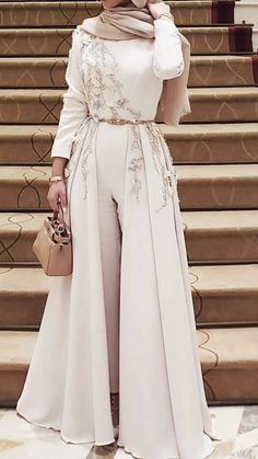 Bridesmaid pants - Ultimate collections by . - Bridesmaid pants – Ultimate collections of dresses AlaydaAmara. Jumpsuit Prom Dress, Hijab Prom Dress, Hijab Evening Dress, Hijab Style Dress, Chiffon Evening Dresses, Prom Party Dresses, Evening Gowns, Formal Dresses, Dresses Dresses