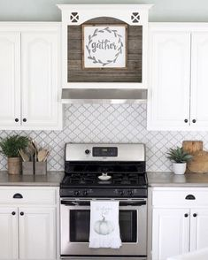 color for kitchen cabinets gray arabesque moorish tile backsplash black quartz 5539