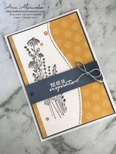 Stamping Up Cards, Pretty Cards, Card Maker, Card Sketches, Paper Cards, Flower Cards, Greeting Cards Handmade, Homemade Cards, Making Ideas