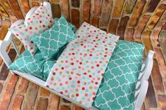 American Girl Doll Bedding Set Handmade from 2KrazyLadies.com