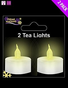Pack Of 4  4cm White Plastic Tea Lights With Flickering Flame >>> Details can be found by clicking on the image.